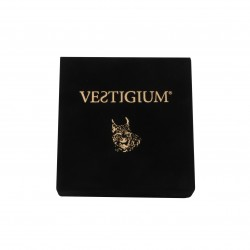 VESTIGIUM® handmade luxury velvet box for bronze lynx paw