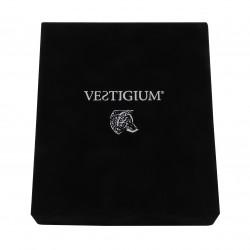 VESTIGIUM® handmade luxury velvet box for ceramic wolf paw