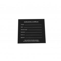 VESTIGIUM® authenticity certificate