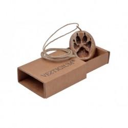VESTIGIUM® wolf ceramic paw pendant reduced size 1:4, box