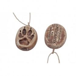 VESTIGIUM® wolf ceramic paw pendant reduced size 1:4