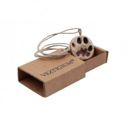 VESTIGIUM® lynx ceramic paw pendant reduced size 1:2 , box