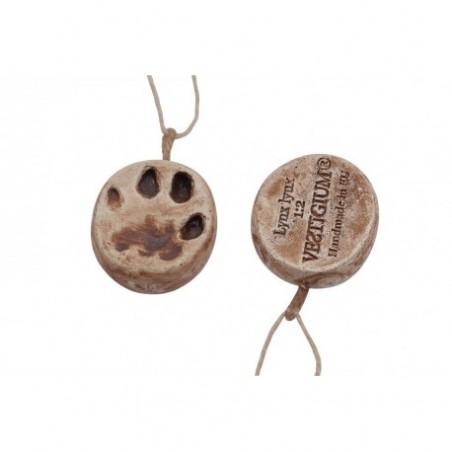 VESTIGIUM® lynx paw ceramic pendant, reduced size 1:2