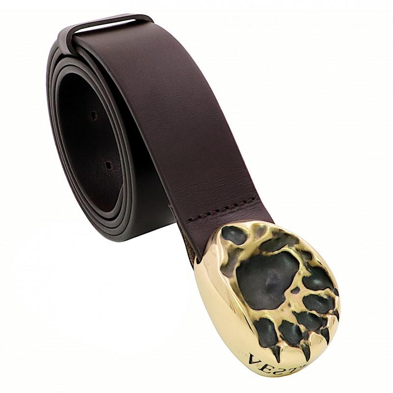 VESTIGIUM® bear paw leather belt