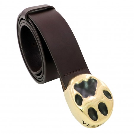 VESTIGIUM® lynx paw leather belt
