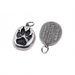 Wolf paw - metallic pendant