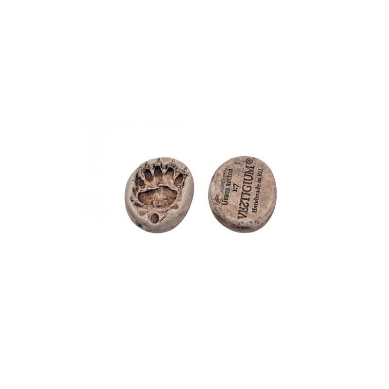 VESTIGIUM® bear paw ceramic pendant, reduced size 1:7