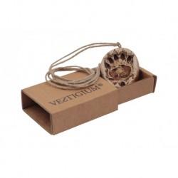 VESTIGIUM® bear paw ceramic pendant, reduced size 1:7, box