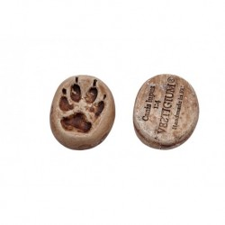 VESTIGIUM® wolf paw ceramic pendant, reduced size 1:4