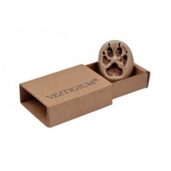 VESTIGIUM® lynx paw ceramic pendant, reduced size 1:2, box