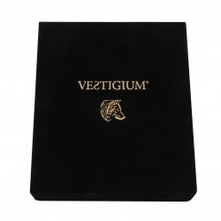 Handmade luxury velvet box for VESTIGIUM® bronze wolf paw