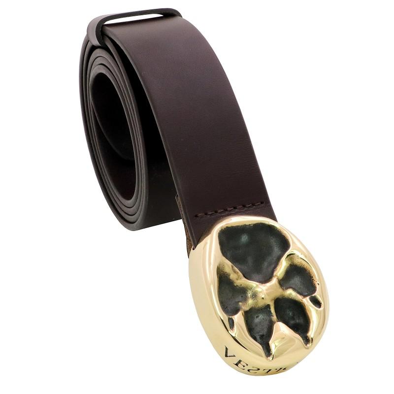 VESTIGIUM® wolf paw leather belt
